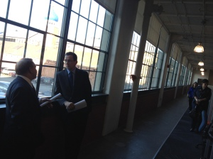 Gov. Dannel Malloy at the Colt Complex (Jeff Cohen/WNPR)