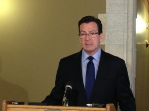 Gov. Dannel Malloy at a press conference Thursday. (Jeff Cohen/WNPR)